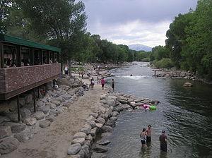 English: Arkansas River in Salida, Colorado