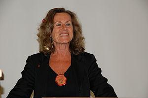 English: Bernardine Dohrn speaking at a Studen...
