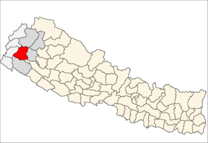 Location map of Doti District (wp-EN), in Nepa...