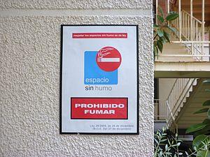 Espacio sin humos, Prohibido fumar