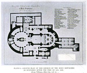 Floorplan of the Church of the Holy Sepulchre