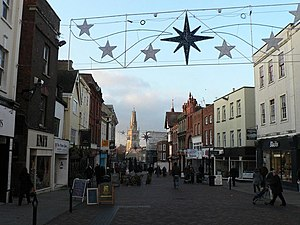 English: Gloucester: Westgate Street The main ...