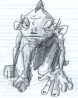 Gollum from The Lord of the Rings and The Hobb...