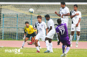 I League Daniel of Chirag United SC takes a fr...