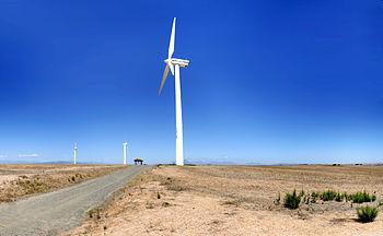 English: Eskom Generation's pilot wind-farm fa...