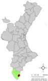 Localización de Torrevieja respecto de la Comunidad Valenciana