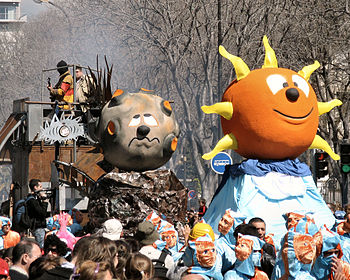 English: a carnival float from Marseille carni...