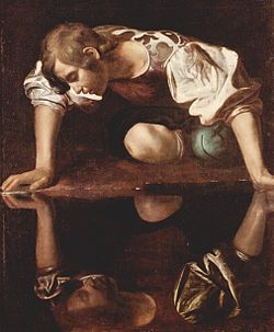Narcisse (Le Caravage) - Domaine public - via Wikimedia Commons (Gallerie nationale d'art antique, Rome)