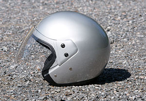 Open-face helmet.