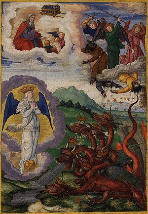 Deutsch: Blatt 295r: Das Apokalyptische Weib, ...