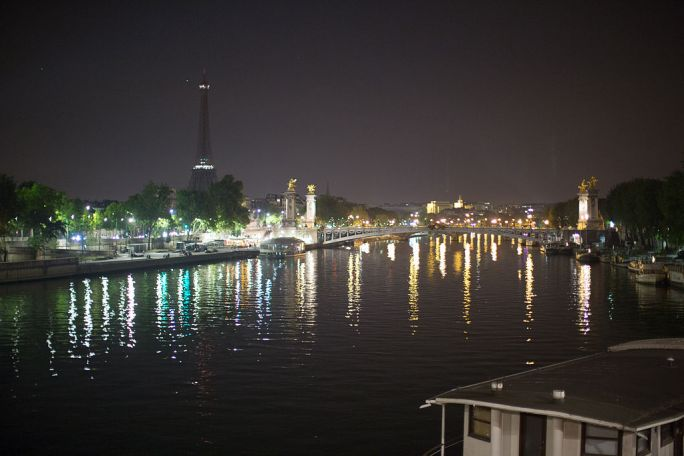 Paris at night reflection