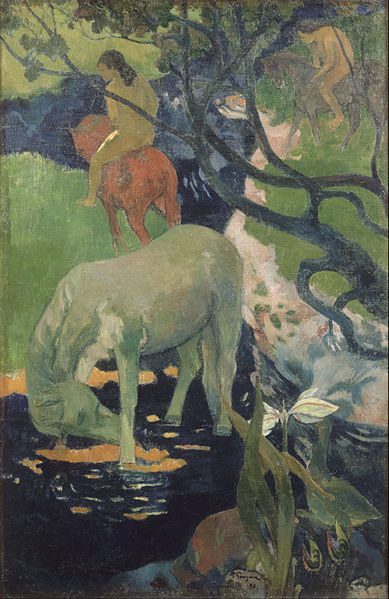 http://commons.wikimedia.org/wiki/File:Paul_Gauguin_-_The_White_Horse_-_Google_Art_Project.jpg