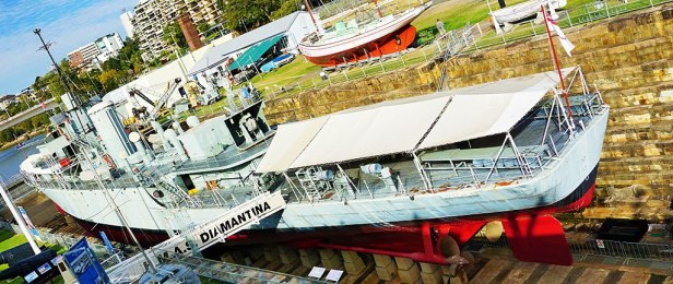 Queensland Maritime Museum - Joy of Museums - HMAS Diamantina (K377)
