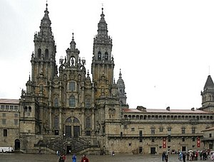 The Cathedral of Santiago de Compostela is the...