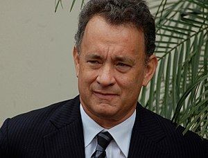 Tom Hanks at a ceremony for George Harrison to...