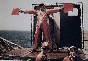 U.S. Navy Lieutenant W.F. Tobin, Landing Signa...
