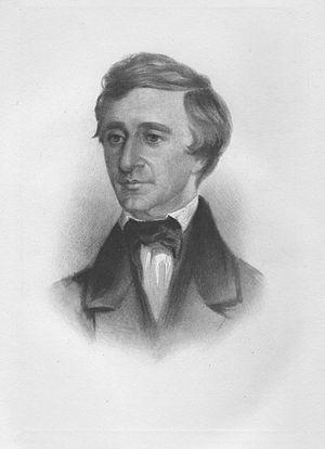 crayon portrait of Henry David Thoreau as a yo...