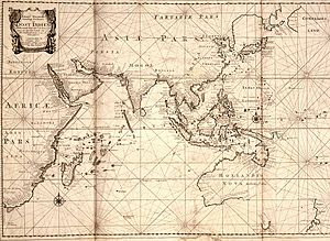 Map of the East Indies; the official trade zon...