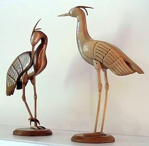 Artists can use woodworking to create delicate...