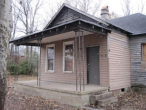 Aretha Franklin birthplace at 406 Lucy Avenue ...