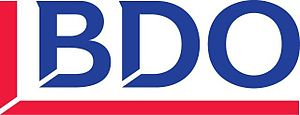 English: Logotipo de la compañía BDO