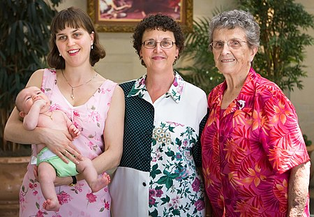 Baby, Mother, Grandmother and Great Grandmother