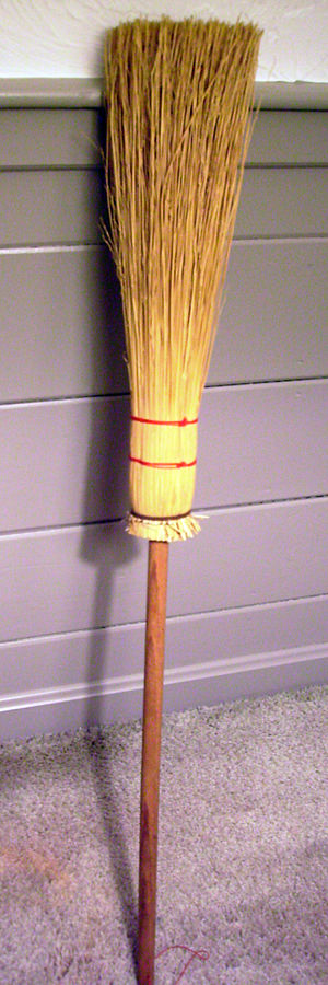English: A besom broom