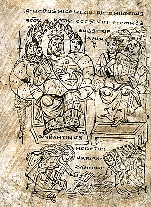 Emperor Constantine and the Council of Nicaea....
