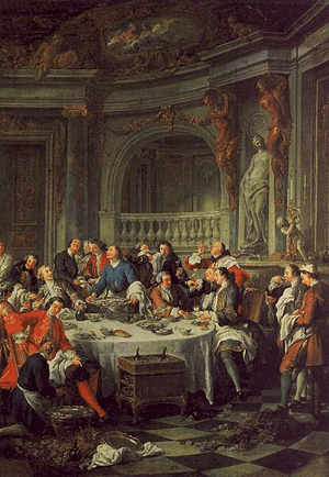 Jean François de Troy, The Oyster Lunch, 1735,...