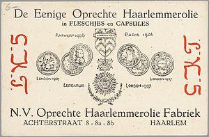 Nederlands: Reclamekaart: De eenige oprechte H...