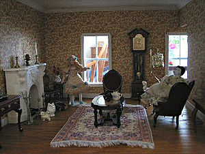 Living Room of Dollhouse. Maine, USA