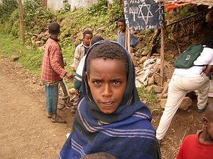 Ethiopian Jewish children waiting to make aliyah.