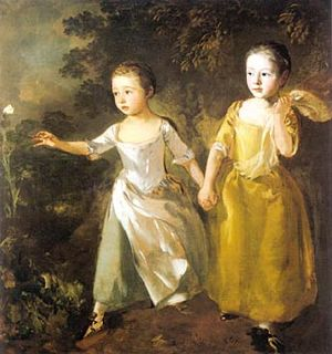 Gainsborough`s Daughters Chasing a Butterfly. ...
