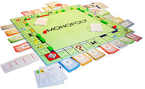 English: A German Monopoly board in the middle...