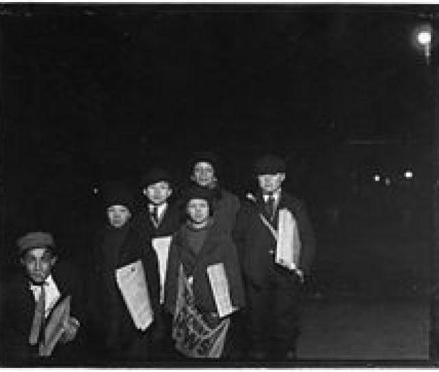 Buffalo Evening News Paper Boys 1910
