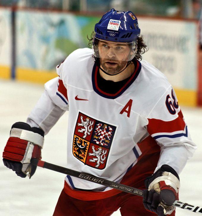 Superstar Jaromir Jagr of the Czech Republic. ...
