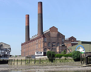 Originally built with four chimneys, Lots Road...