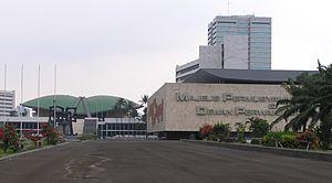 The legislative building complex in Senayas, J...