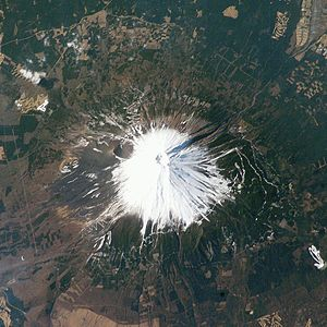 Image of Mount Fuji taken by NASA