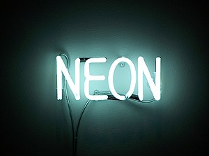 Neon sign.