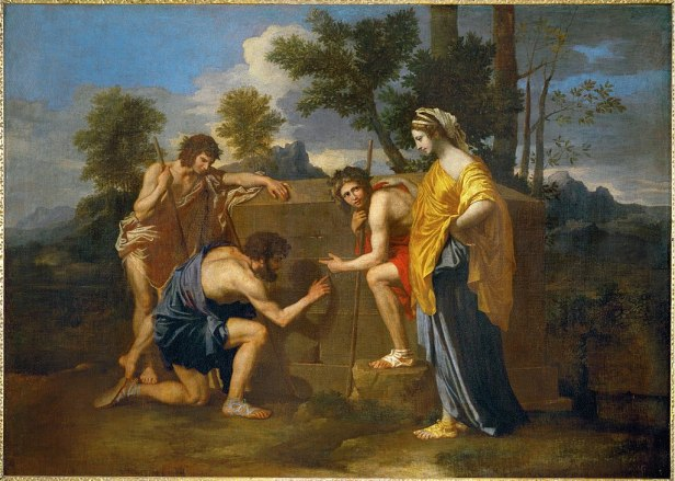 """""""The Arcadian Shepherds"""" by Nicolas Poussin"""