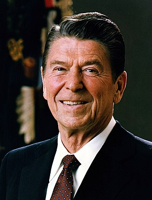 Cops Win One for the Gipper! [Official Portrait of President Ronald Reagan].