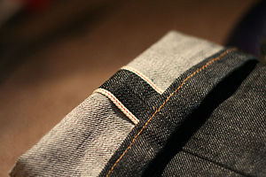 English: Selvage denim on a pair of Cheap Mond...