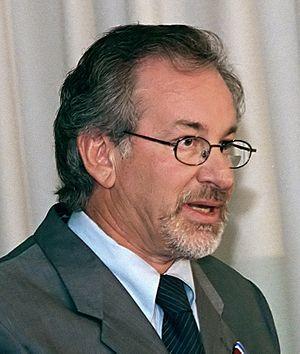 Director Steven Spielberg speaking at the Pent...