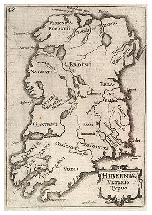 Wenzel Hollar's historical map of Ireland