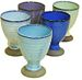 5pcs pastel color ceramic goblets made in Japa...
