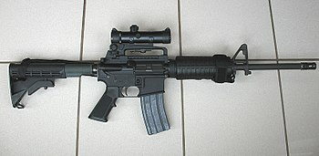 English: Colt AR-15 A3 Tactical Carbine. Used ...