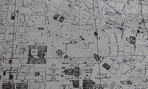 Azbakeya garden Cairo map 1948