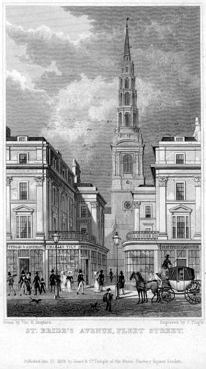 English: St Bride's Church Fleet St, London