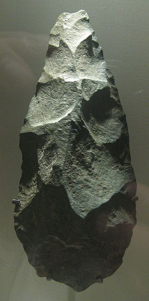 Olduvai handaxe, Lower Palaeolithic, about 1.2...